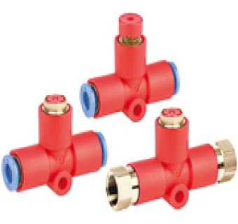Residual Pressure Release Valve with One-touch Fittings KE□